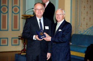 Peter receives his award from His Excellency Governor Alex Chernov